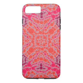 Abstrato alaranjado fluorescente do rosa capa iPhone 7 plus
