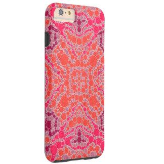 Abstrato alaranjado fluorescente do rosa capa tough para iPhone 6 plus