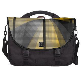 Abstrato amarelo do preto maletas para notebooks