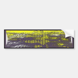Abstrato amarelo dos grafites adesivo para carro