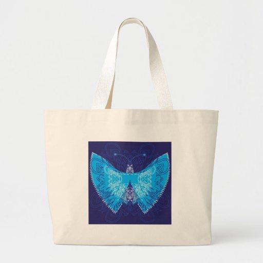 Abstrato azul da borboleta bolsa