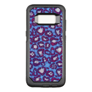 Abstrato azul da chita de Borgonha Capa OtterBox Commuter Para Samsung Galaxy S8