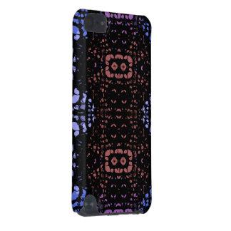 Abstrato azul do pêssego capa para iPod touch 5G