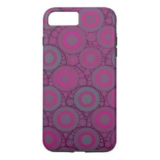 Abstrato azulado cor-de-rosa fluorescente do capa iPhone 7 plus