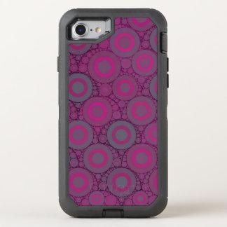 Abstrato azulado cor-de-rosa fluorescente do capa para iPhone 7 OtterBox defender