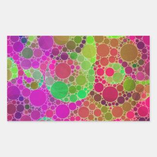 Abstrato bonito adesivo retangular