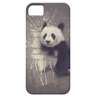 Abstrato bonito da panda capa barely there para iPhone 5