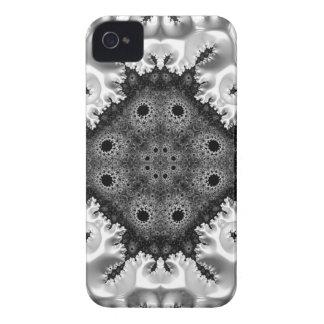 Abstrato bonito do Fractal de Black&White Capinha iPhone 4