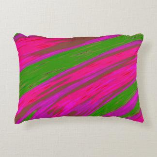 Abstrato brilhante da abanada da cor cor-de-rosa e almofada decorativa