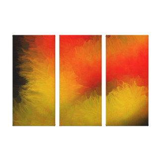 Abstrato brilhante da meia-noite impressão em canvas