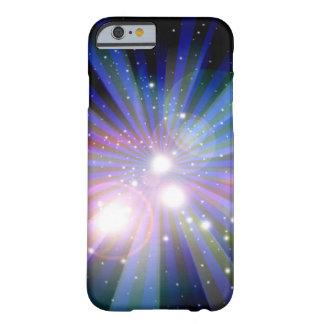 Abstrato claro do design da arte da galáxia capa barely there para iPhone 6
