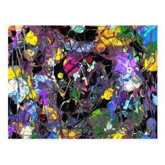 Abstrato colorido cartão postal