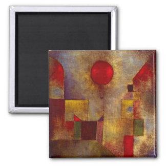 Abstrato colorido do balão vermelho de Paul Klee Ima