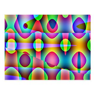 Abstrato colorido Funky Cartão Postal