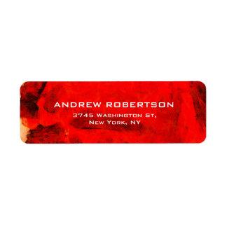 Abstrato contemporâneo moderno do vermelho etiqueta endereço de retorno