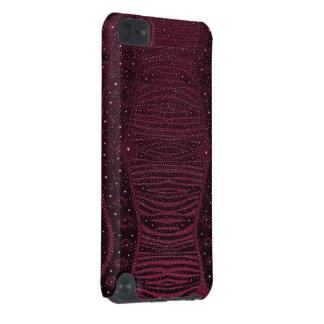 Abstrato cor-de-rosa escuro da zebra do brilho capa para iPod touch 5G