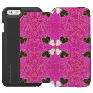 Abstrato cor-de-rosa fluorescente bonito do capa carteira incipio watson™ para iPhone 6