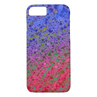 Abstrato cor-de-rosa fluorescente do azul capa iPhone 7