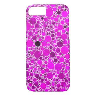 Abstrato cor-de-rosa fluorescente minúsculo de capa iPhone 7