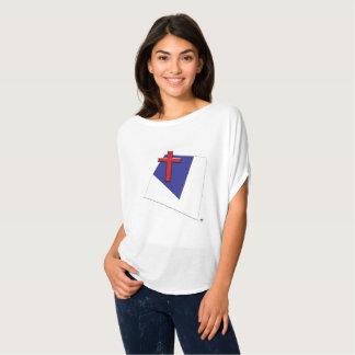 Abstrato cristão da bandeira camiseta