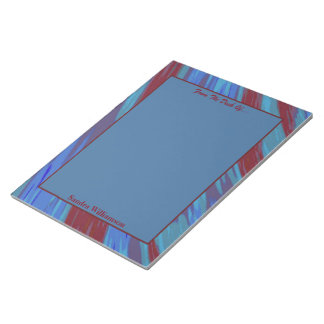 Abstrato da abanada da cor de azul vermelho bloco de notas