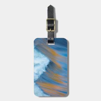Abstrato da água azul, Canadá Etiqueta De Bagagem