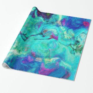 Abstrato da água azul do Aqua Papel De Presente