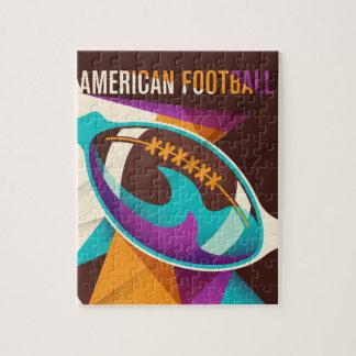 Abstrato da bola do esporte do futebol americano quebra-cabeça