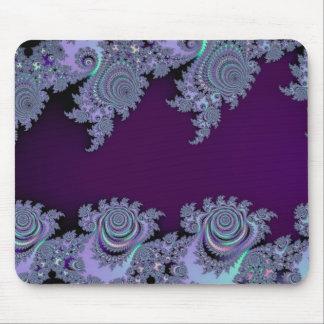 Abstrato da meia-noite violeta escuro do Fractal Mousepads
