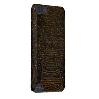 Abstrato da zebra do brilho de Brown Capa Para iPod Touch 5G