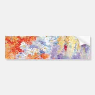 Abstrato das flores da pintura a óleo adesivo para carro