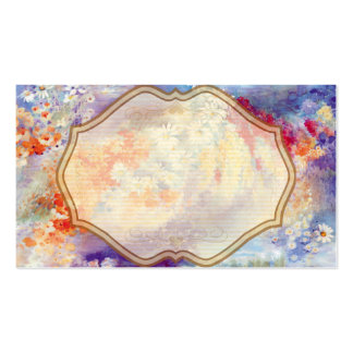 Abstrato das flores da pintura a óleo cartão de visita