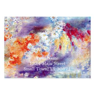 Abstrato das flores da pintura a óleo cartão de visita grande