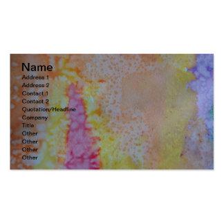 Abstrato das pinturas da aguarela cartão de visita