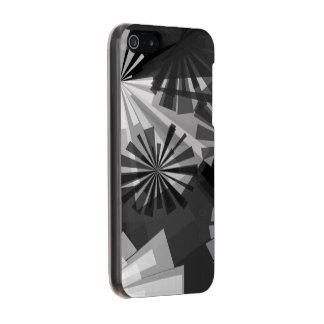 Abstrato de Black&White Capa Incipio Feather® Shine Para iPhone 5
