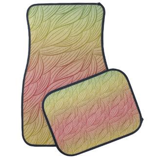 Abstrato de Ombre do perfurador do citrino Tapete De Carro