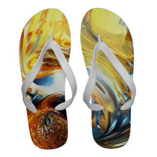 Abstrato de vidro do maremoto chinelos