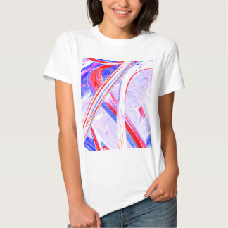 Abstrato dinâmico do cetim camiseta