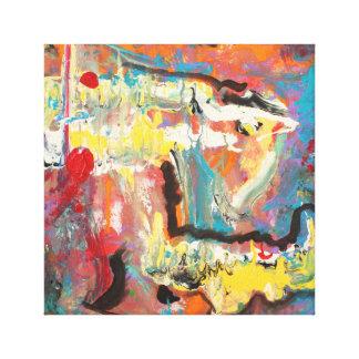 Abstrato do acrílico 12 X12 Impressão Em Canvas