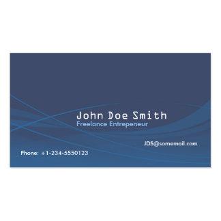 Abstrato do azul cartão de visita