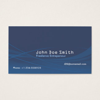 Abstrato do azul cartão de visitas