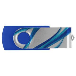 Abstrato do azul pen drive giratório