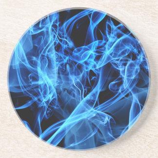 Abstrato do azul porta copos de arenito