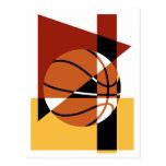 Abstrato do basquetebol cartão postal