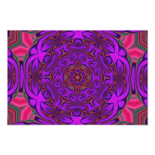 Abstrato do caleidoscópio com roxo, o cor-de-rosa  fotografia
