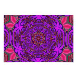Abstrato do caleidoscópio com roxo, o cor-de-rosa  impressão de foto