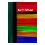 Abstrato do feliz aniversario cartões