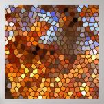 Abstrato do mosaico do outono impressão