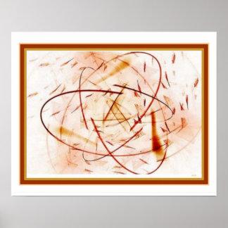 """Abstrato do """"quantum"""" impressão 16 x 20"""