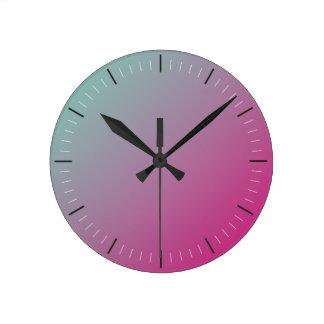 Abstrato do ROSA QUENTE e da CERCETA | Relógio Redondo